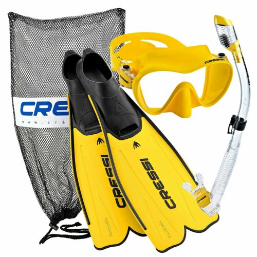 Cressi Rondinella Full Foot Mask Fin Snorkel Set with Bag