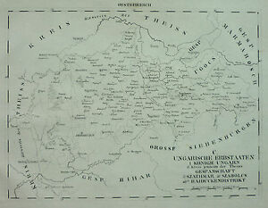 From Schlieben Lithography Map Hungary Romania Dewsbury United