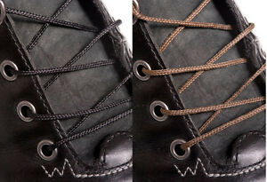 HEAVILY-WAXED-THIN-BLACK-or-BROWN-COTTON-SHOE-LACES-SHOELACES-2mm-wide