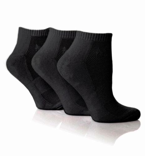 Da Donna Autentico Pringle imbottita 3 Pack Nero SECRET calzini da allenamento taglia 4-8 UK
