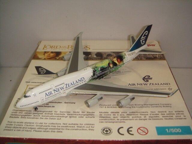 Herpa Wings 500 Air New Zealand B747-400  Señor de las alas-Frodo  1 500 NG