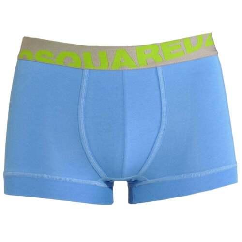 Blu//Verde DSQUARED 2 Biancheria Intima Uomo Modal Stretch Logo Tronco Boxer