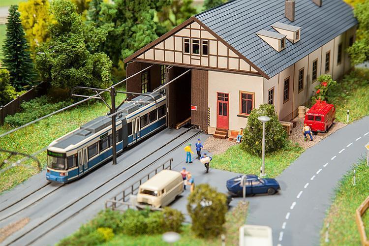 Faller 222101 - 1 160 N tram Depot Naumburg-NUOVO