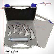 Laryngoscope Conventional Led White Light Set Of 5 Blades Medium Handle Box
