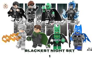 Custom  lot of Black Lantern Minifigures White lantern Flash GL batman