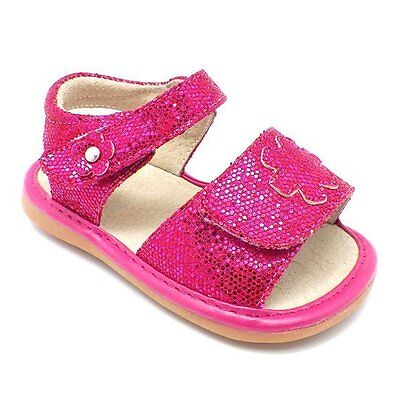 MOOSHU Trainers Squeaker Shoes NEW Pink Sandals Sz 3-9