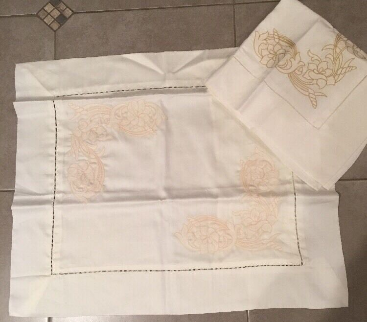 2 Frette Square Pillowcases 100% Cotton MADE IN ITALY