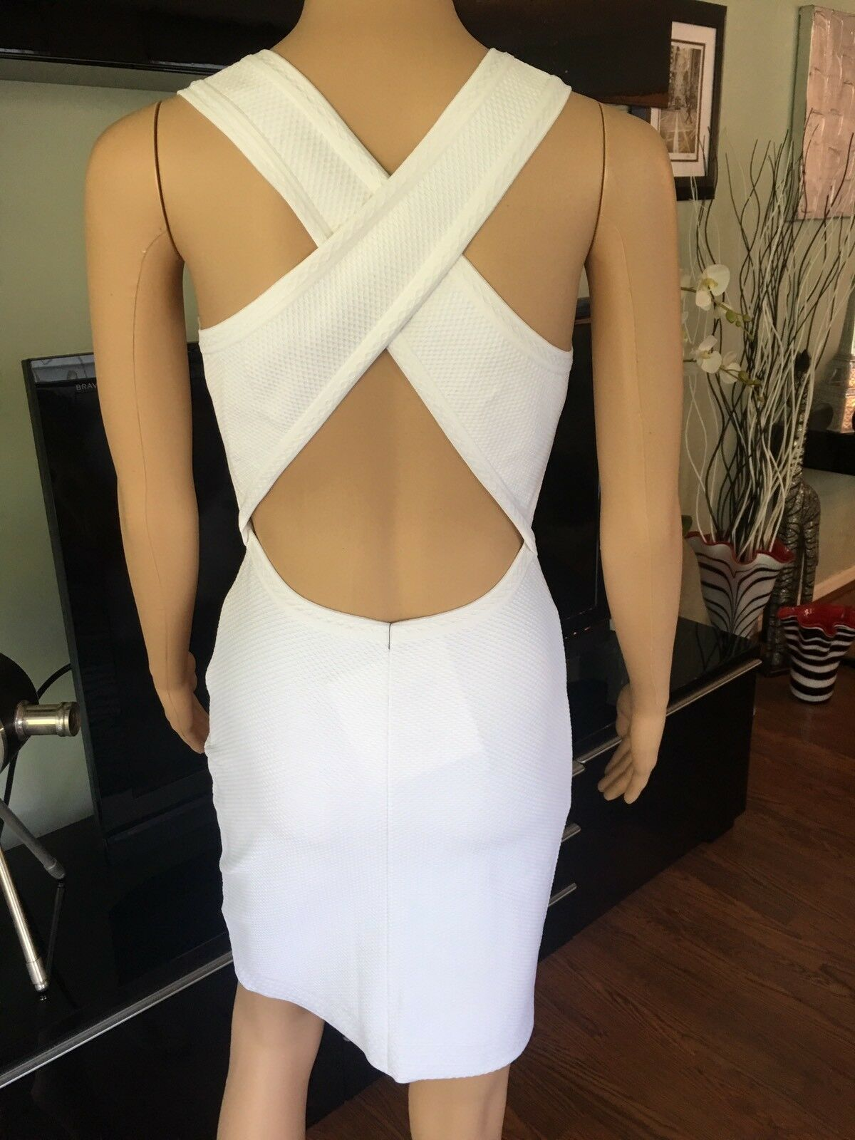 Azzedine Alaia Sexy Fitted Open Back White Dress - image 3