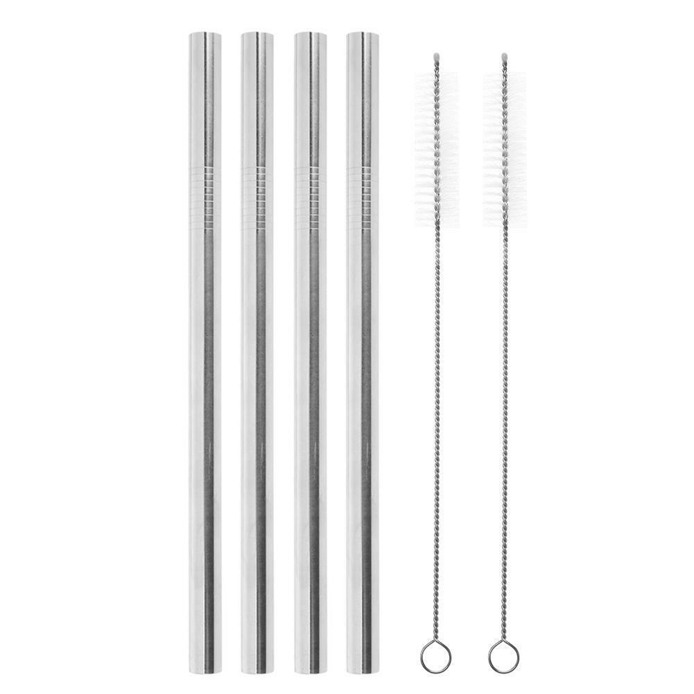 4pcs Straws 2pcs Brush 21.5*12mm