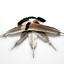 3pcs-Natural-Wild-Turkey-Tail-Feathers-Large-25-30cm-DIY-Smudge-Fan-Quill miniature 1