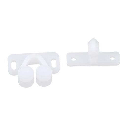 3pcs White ABS Plastic Caravan Roller Catch Cabinet Door Drawer Ball Latch