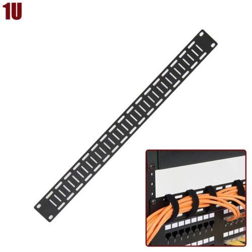 "10 Pcs 1U 19/"" Flat Cable Lacing Panel Rack Mount Rounded Corner Steel Universal"