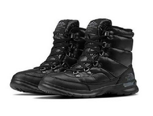 a6899faf2adf The North Face Thermoball Lace II Women s Nylon Snow BOOTIES BOOTS Cold  Weather 11 Shiny TNF Black iron Gate Grey