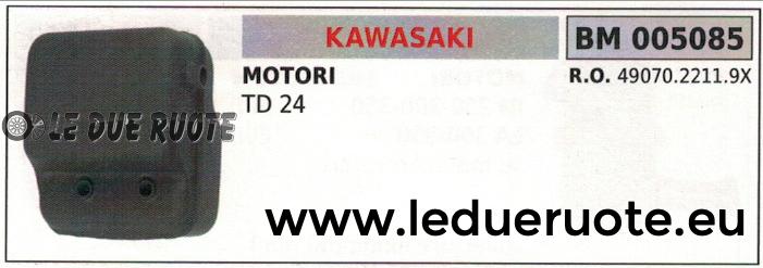 4907022119X MARMITTA SCARICO SILENZIATORE COMPLETO MOTORE KAWASAKI TD24