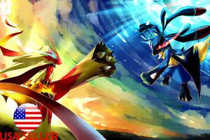 pokemon mega greninja anime switch 36 x 24 large wall poster print