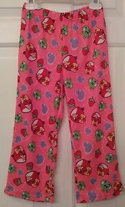 Angry-Birds-Child-Small-4-6-Pink-With-Printed-Designs-Pajama-Pants