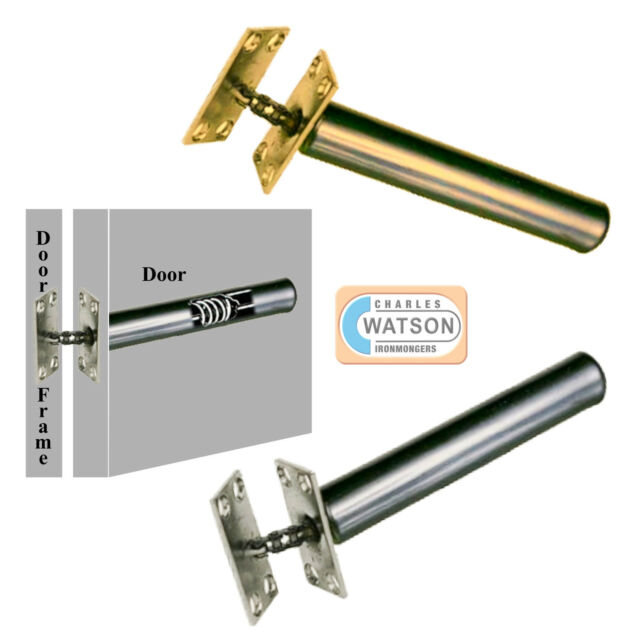 3 X Concealed Internal Door Closer Chain Spring Fire Rated Brass