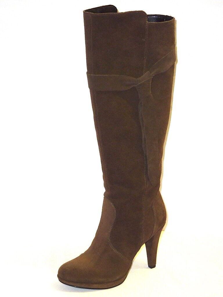 Zapatos especiales con descuento STIVALI DONNA ALTI NUOVI ARRIVI INVERNO CAMOSCIO TOUPE PLATEAU SEXY ALLA MODA 40
