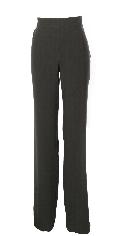 ARMANI COLLEZIONI Women's Dark Grey Unhemmed Dress Pants 104501 IT 48   595 NEW