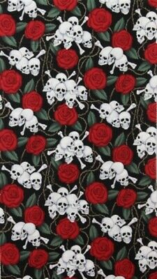 Alexander Henry Folklorico Skulls and Roses 1595AR Cotton Fabric