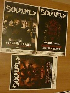 Soulfly-Scottish-tour-Glasgow-concert-gig-posters-x-3