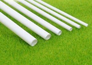 Image is loading White-ABS-Round-Plastic-Pipe-Tube-Hollow-Pipe- & White ABS Round Plastic Pipe Tube Hollow Pipe OD 2/2.5/3/4/6/8mm x ...