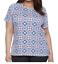CROFT-amp-BARROW-Womens-Blue-Red-Classic-Tee-T-Shirt-Top-Size-3X-NWT thumbnail 1