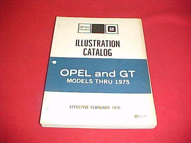 1968 1969 1970 1971 1972 1973 1974 1975 OPEL GT ILLUSTRATION PARTS CATALOG 70 71