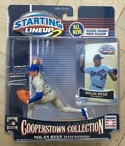 NEW 2001 MLB Starting Lineup Cooperstown Action Figure Nolan Ryan Texas Rangers