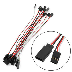 10pcs-200mm-Extension-Servo-Wire-Lead-Cable-Cord-For-Futaba-JR-Male-To-Female