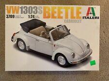 Italeri 3709 1/24 Scale Model Car Kit VW VOLKSWAGEN 1303s Beetle Cabriolet