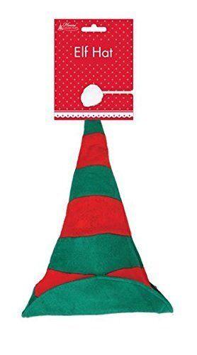 ADULTS ELF STRIPEY HAT UNISEX CHRISTMAS FANCY DRESS