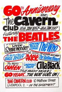 0647-Vintage-Music-Poster-Art-The-Beatles-At-The-Cavern-Club-60th-Anniversary