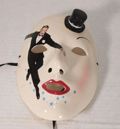 Frot Astaire Clay Kunst   Vandor Mask Dancing Hollywood  Ceramic Wand Mask RARE