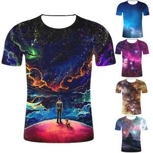 Galaxy-Space-Nebula-3D-Print-Mens-Women-Casual-Short-Sleeve-T-Shirt-Graphic-Tops