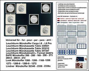 Look-12332-12-67-Plateau-pour-Monnaies-Bleu-12-Carre-Cases-Jusqu-039-a-67-MM