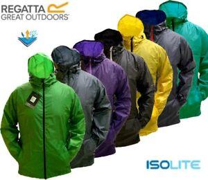 Regatta Mens Pack-it Iii Lightweight Breathable Taped Seams Packaway Hooded Jackets Waterproof Shell