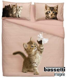 BASSETTI-Completo-Letto-Lenzuolo-copriletto-LET-039-S-PLAY-Matrimoniale-2-piazze