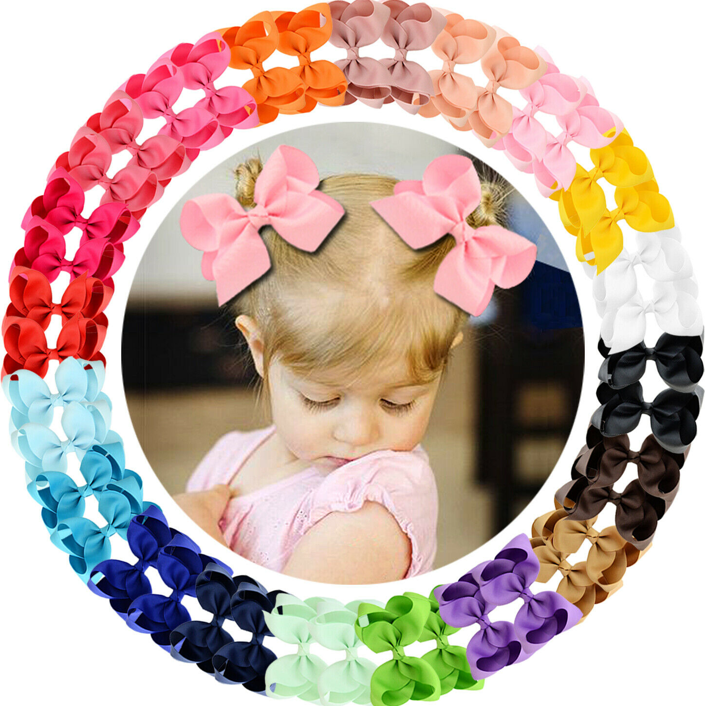 Baby to Child Hair Bow Headband or Alligator Clip