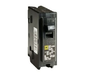 square d hom130cp homeline single pole circuit breaker, 30 ... 30 amp outlet wiring diagram #12