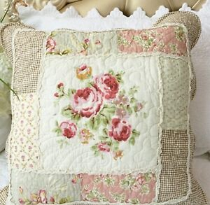 Shabby Chic Cushion Throw Pillow Cover Sham Pink Brown Grey Cream 45cm eBay