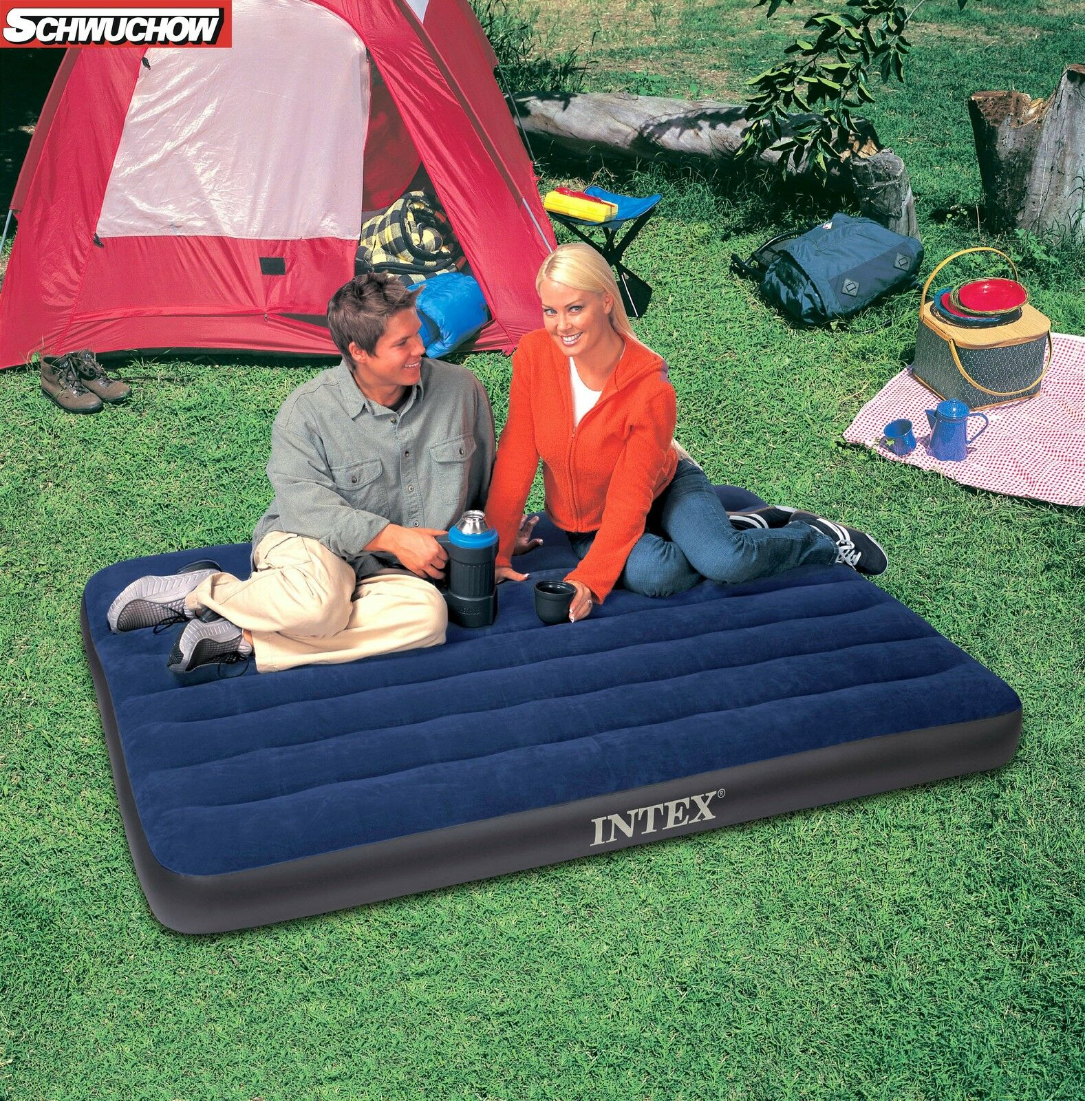 Intex Airbed Bed Air Mattress Guest Bed 137 x 191 x 22 Camping Bed Bestway