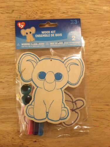 Elephant /& Monkey Ty Beanie Boos Wood Kit Set of 2 FREE SHIPPING