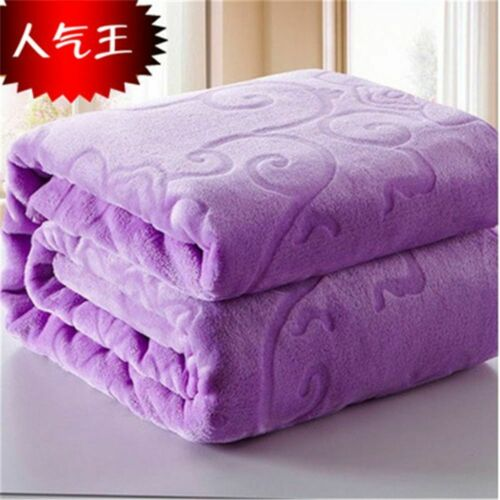 Details about  /Blanket Bed Faux Fur Coral Fleece Mink Throw Embossed Korean Style Sofa Cover