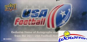 2011-Upper-Deck-USA-Football-Factory-Sealed-HOBBY-Box-Set-3-AUTOGRAPH-GU-MEM