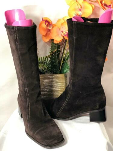 LA CANADIENNE Canada Brown Suede Leather Side Zips