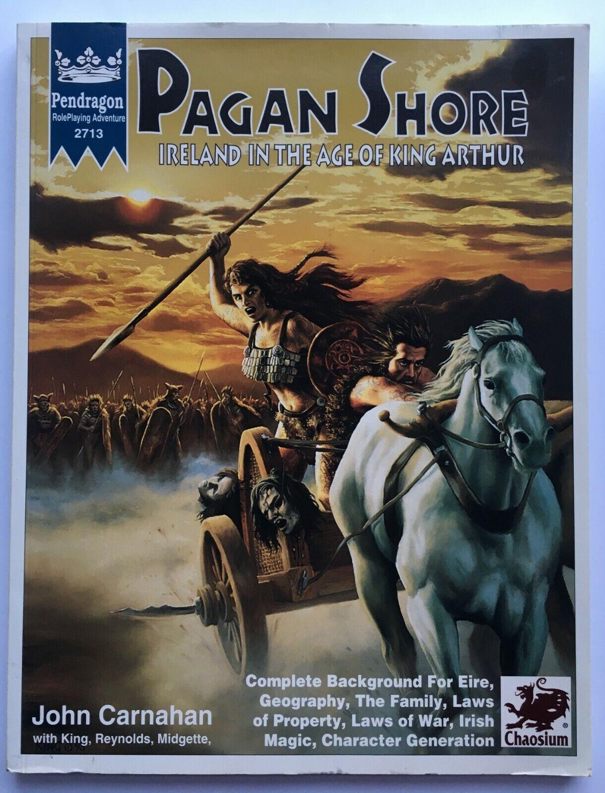 Pagan Pagan Pagan Shore - Pendragon RPG 2713 - Chaosium - King Arthur - complete with MAP 3f4