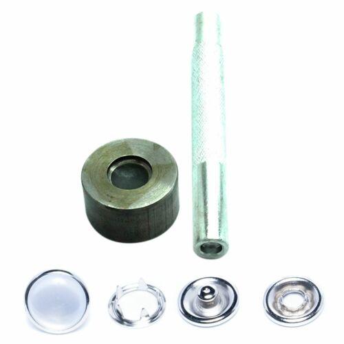 100 un 9.5mm 4 parte Perla Snap Poppers con conjunto de Herramienta de mano para armar uno mismo de ropa de bebé