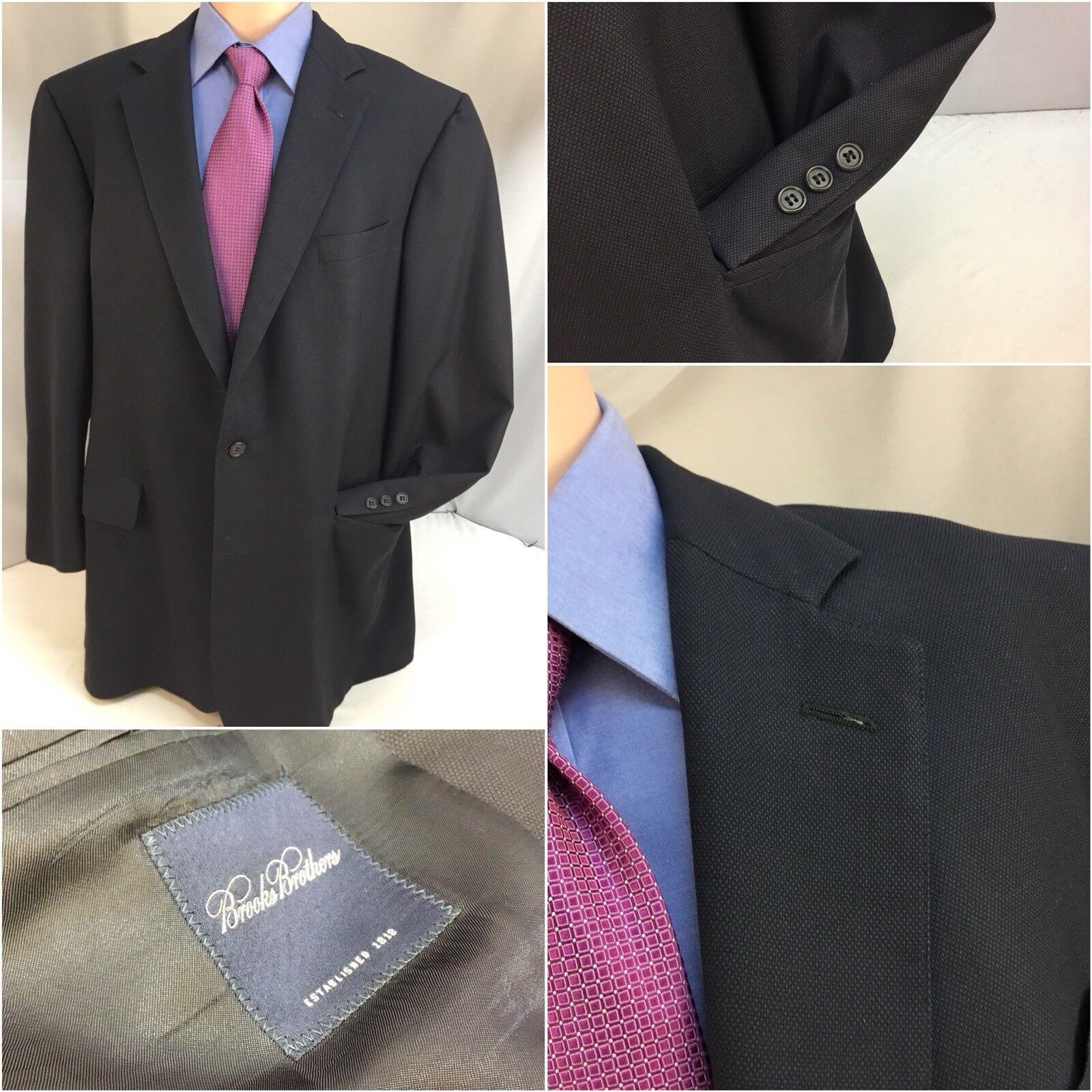 Brooks Brothers Blazer 45L Blau 2b 1v 100% Wool 45 L USA EUC YGI 9482