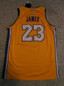 ca606c9bb77a NIKE LOS ANGELES LAKERS  23 LEBRON JAMES SEWN SWINGMAN JERSEY(MENS ...